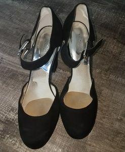 Michael Michael Kors Black Velvet Chunky Heels